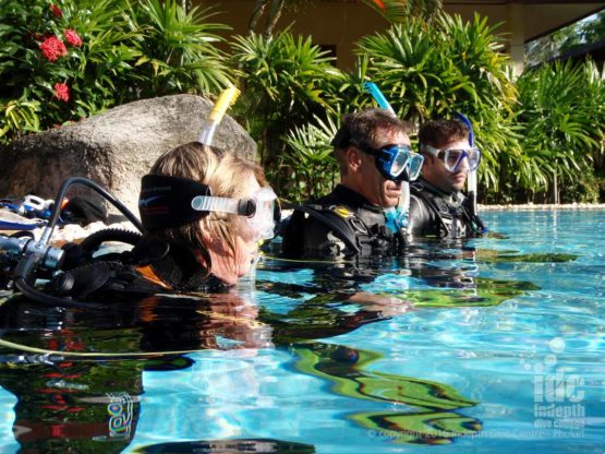 PADI Course Director teaching a Scuba Instructor OWSI program
