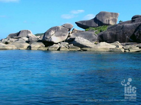 The rock from which Donald Duck Bay gets it's name in The Similans