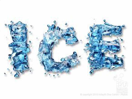 Ice on Phuket Island Thailand