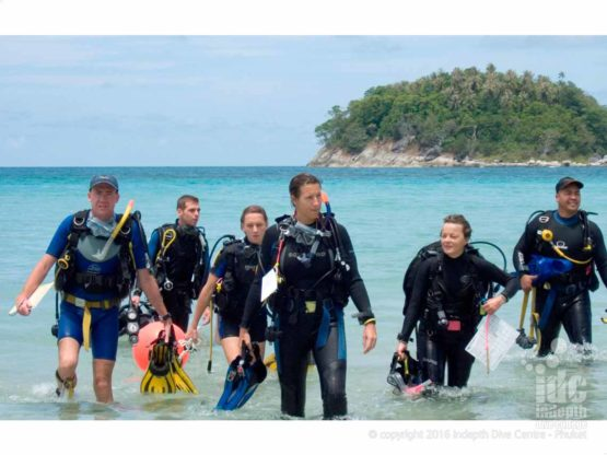 PADI Instructor Course IDC Open Water Dives are generally done off the beach in great conditions for learning