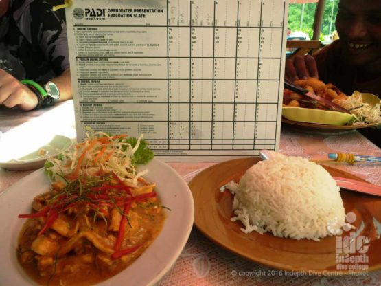 At Indepth we include a Thai lunch in all our PADI Courses including the PADI Instructor Course