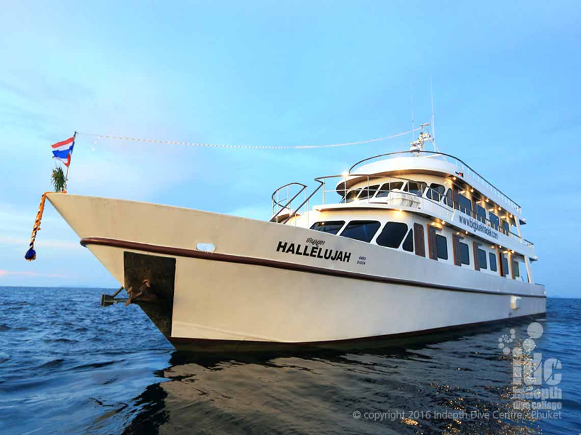 Indepth and MV Hallelujah Liveaboard for the best Liveaboard Diving to Similan Islands, Koh Bon, Koh Tachai & Richelieu Rock