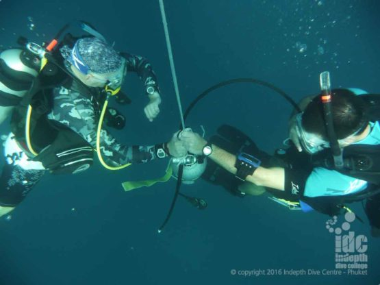 Practicing Emergency Deco on your PADI Deep Advanced Open Water Dive on Phuket