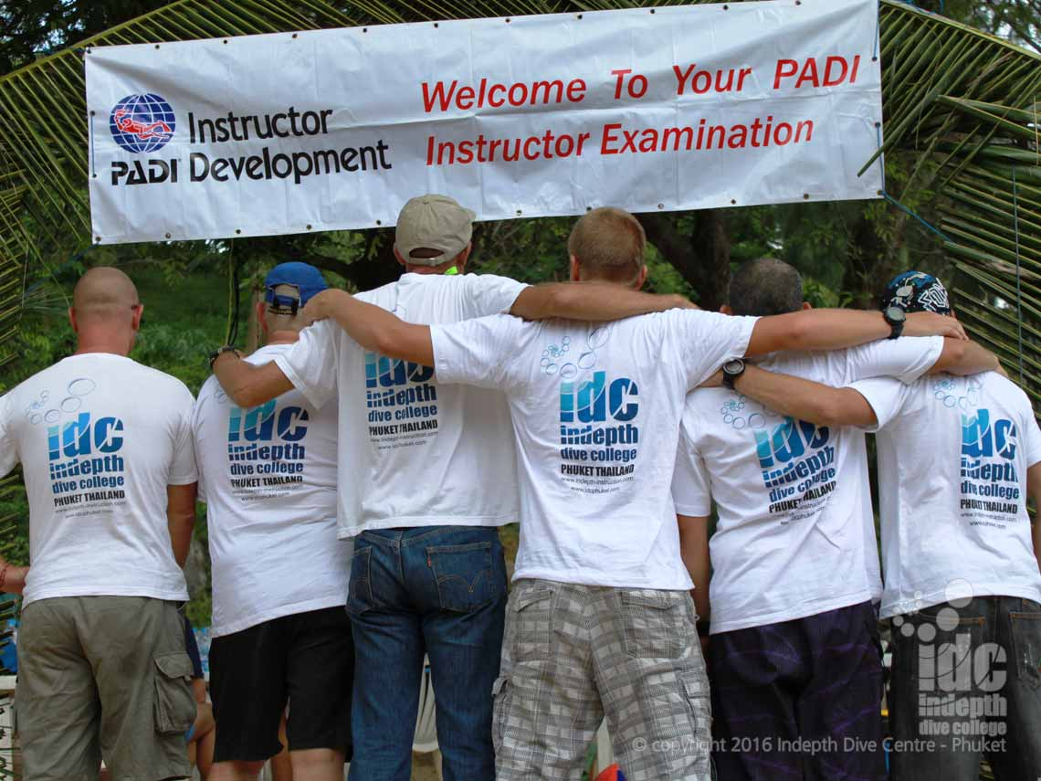 PADI instructor examination with Indepth on Phuket Thailand