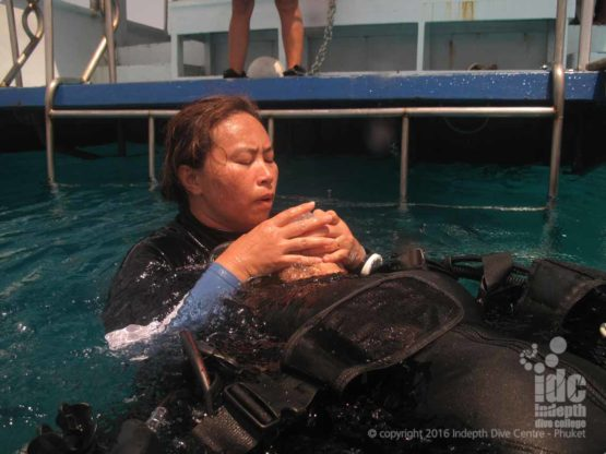 PADI rescue breathing is serious fun with Indepth
