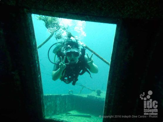 The Wreck in Bay 1 is always an option for The PADI Wreck Diver Course
