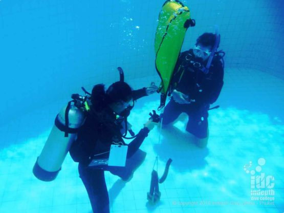 PADI Search & Recovery Skills can be introduced in the pool