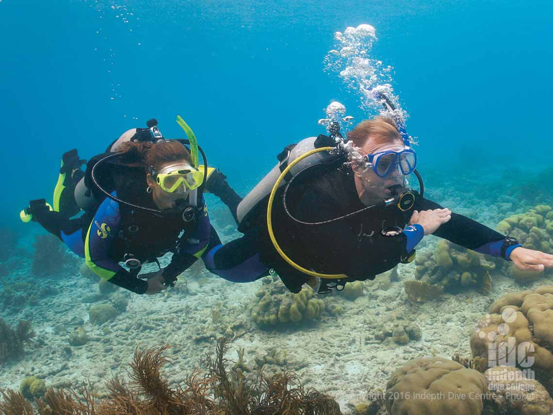 Navigating underwater can be tricky to get the hang of. Take the PADI Underwater Navigation Course with Indepth Dive Centre Phuket Thailand