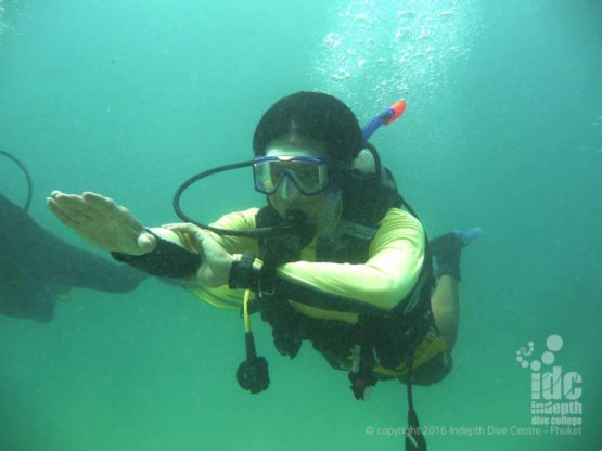 One option us to use a wrist-mounted compass for your PADI Underwater Navigation Course