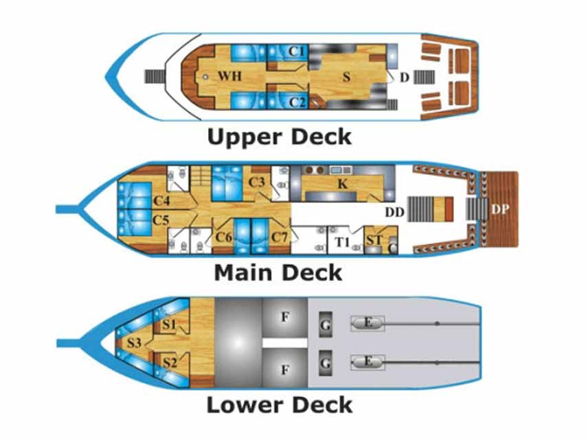 andaman-tritan-liveaboard-boat-layout