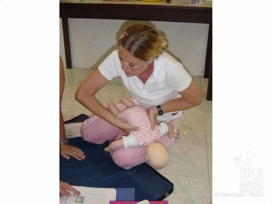 Choking baby skills are taught in the EFR Child & Baby CPR / First Aid Course