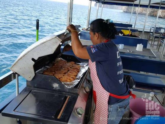 Awesome BBQ on Indepth Dive Centre Phuket Scuba Diving Trip Boat 7