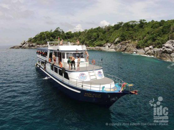 Indepth Dive Centre Boat 7 perfect for a Phuket Scuba Diving Trip
