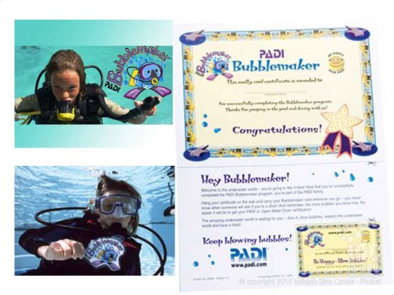 A PADI Bubblemaker always keeps blowing bubbles