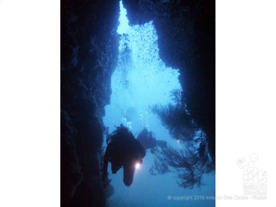 Cave Diving at Western Rocky on a Burma Liveaboard