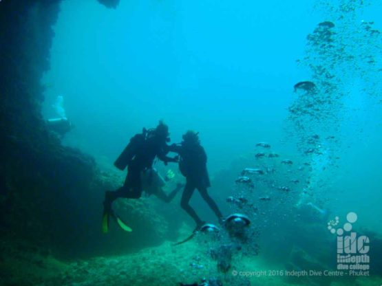 Cavern Diving at Ko Haa Yai in The South Andaman Sea