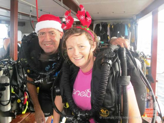 Chris Owen PADI Poseidon Rebreather Instructor Trainer teaching CCR Instructor Course on Christmas Day