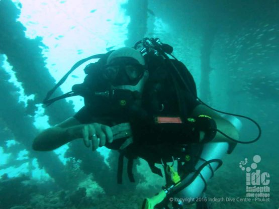 PADI Course Director Chris Owen Wreck Diving Phuket on his Poseidon Rebreather