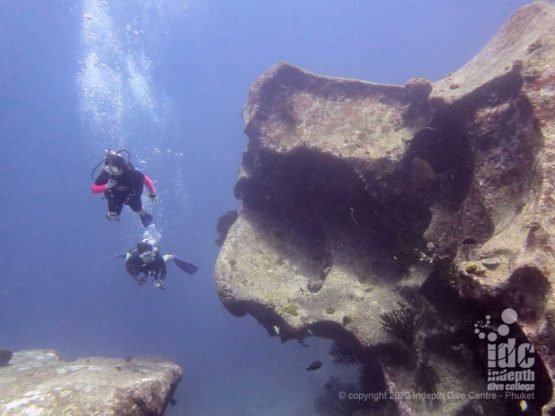 The massive granite boulders are one of the highlights of Christmas Point Dive Site in Thailand