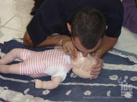 Indepth has baby and child CPR mannequin for all PADI Child & Baby CPR / First Aid Courses