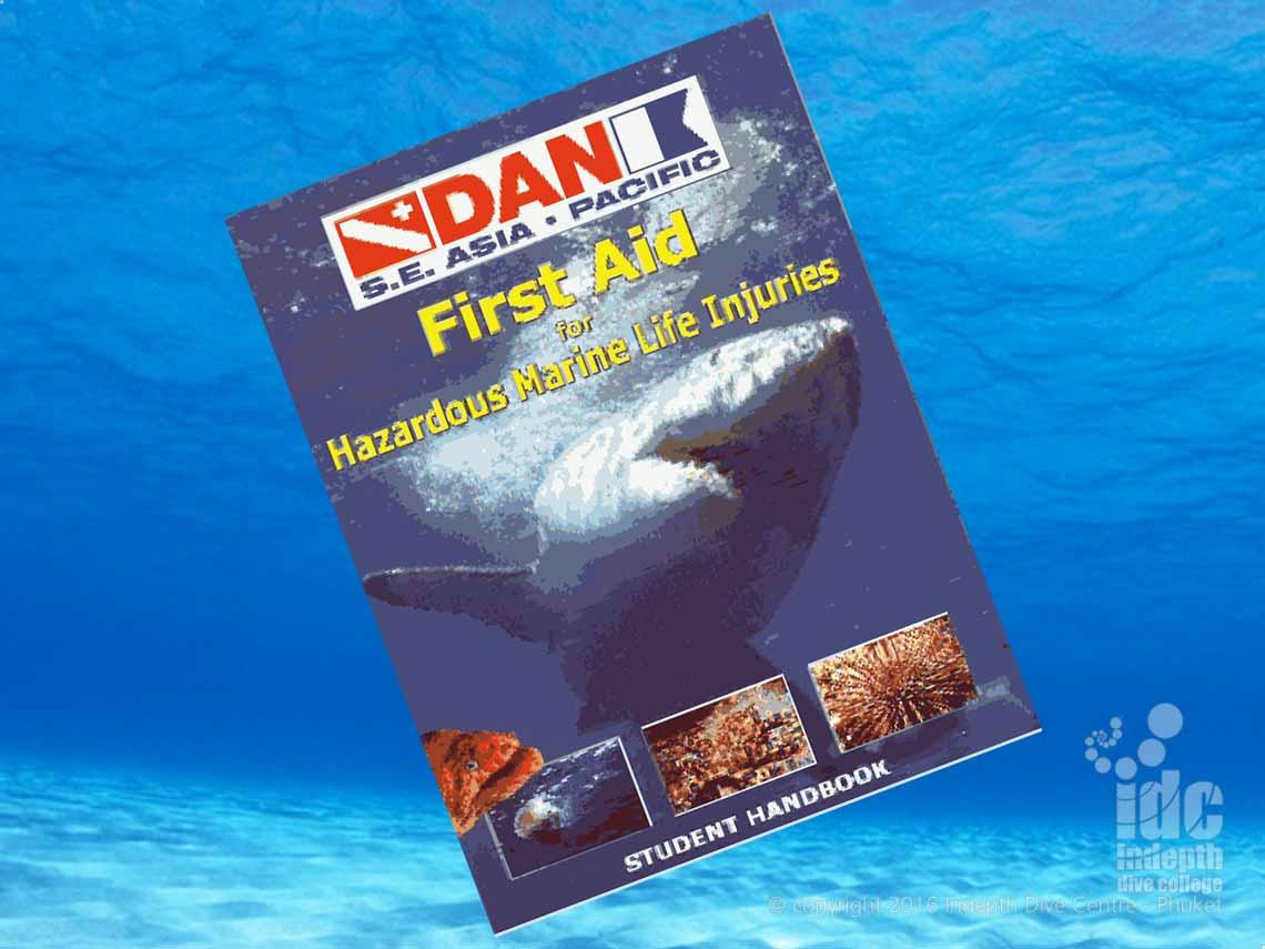 Take the DAN Hazardous Marine Life Injuries Course (HMLI) with Chris and Indepth Dive Centre Phuket Thailand