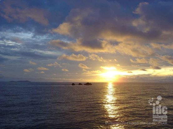 Dawn over Hin Daeng on a South Andman Liveaboard Cruise