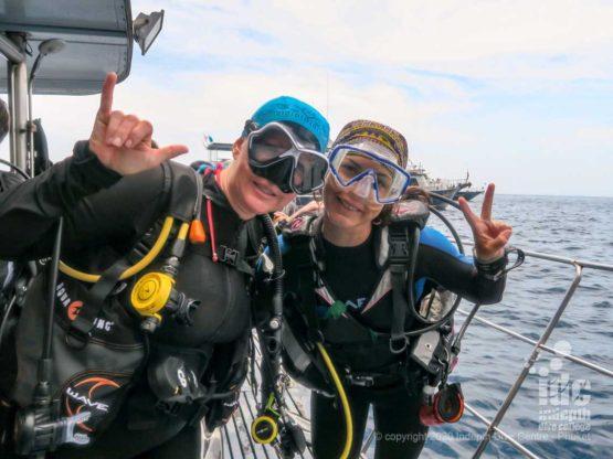 Happy Divers at Similan Islands Deep Six