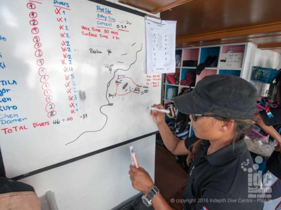 Dive Briefing for Shark Point on Indepth Phuket Dive Trip Boat 1