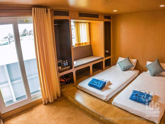 Even a Standard Cabin is luxury on DiveRACE Liveaboard
