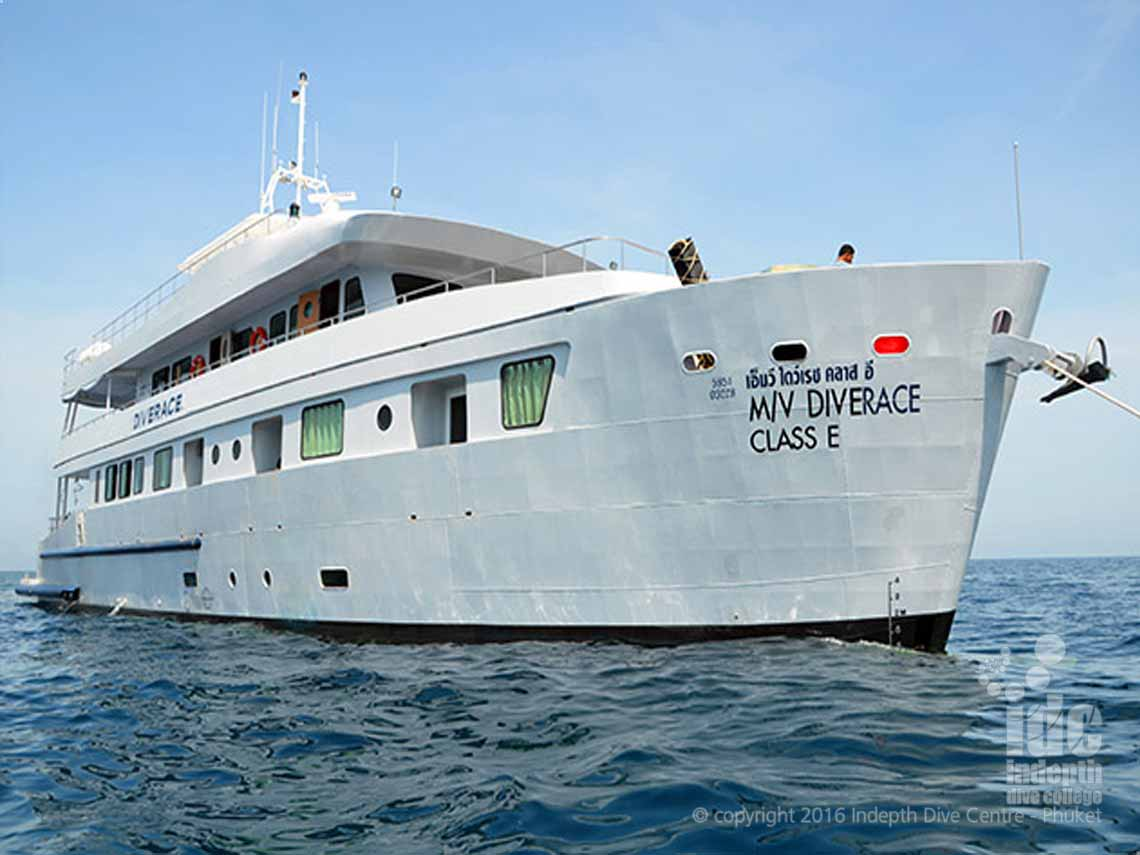 Join Indepth and DiveRACE Liveaboard for your Similan Islands, Richelieu Rock, Koh Bon, Koh Tacha and Burma adventure