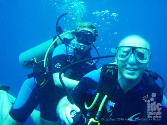 Scuba diving is always fun with Indepth on Phuket