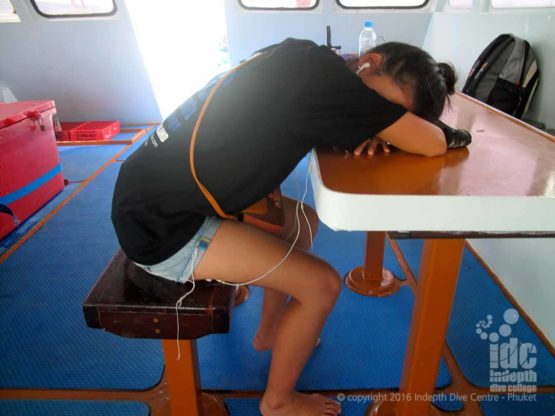 Who says Scuba Diving with Indepth is tiring?
