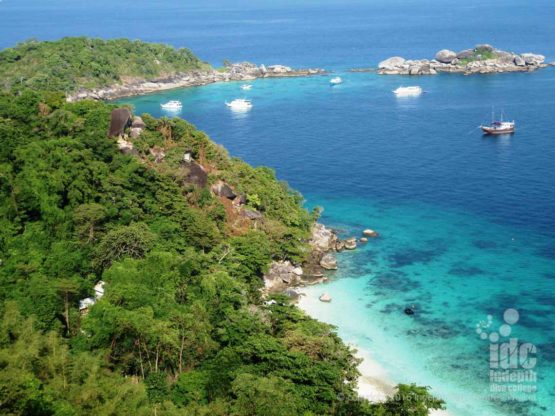 Stunning view from Honeymoon Bay View Point in The Similans