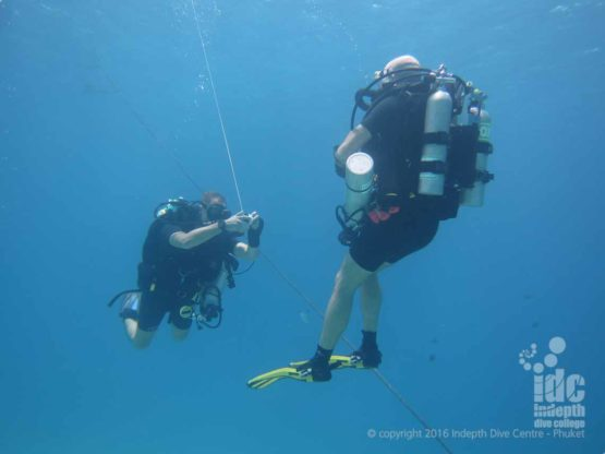 PADI Drift Diver Course Students diving on Phuket with their Poseidon Rebreather with Indepth Phuket