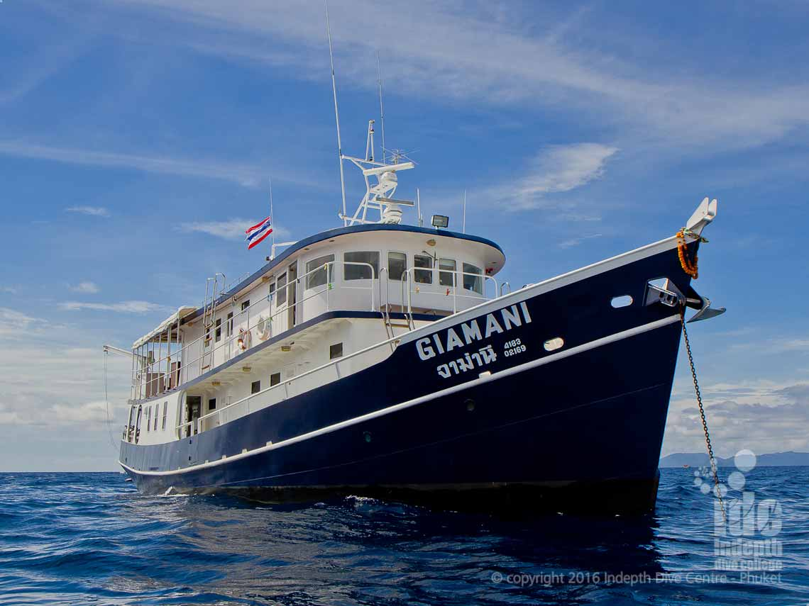 Phuket Liveaboards with Indepth and Giamani Liveaboard to Similan Islands and Southern Andaman