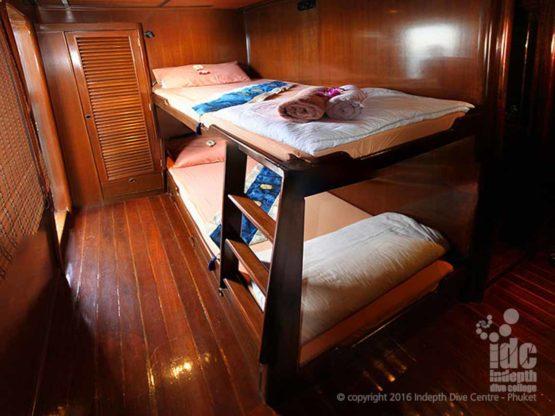 MV Hallelujah Liveaboard twin share cabin