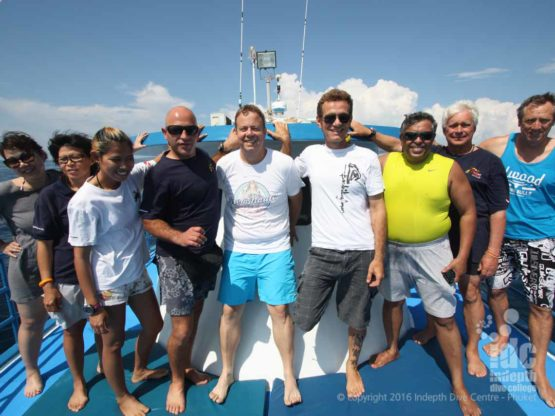 A great bunch of Divers on Phuket Scuba Diving Boat 6
