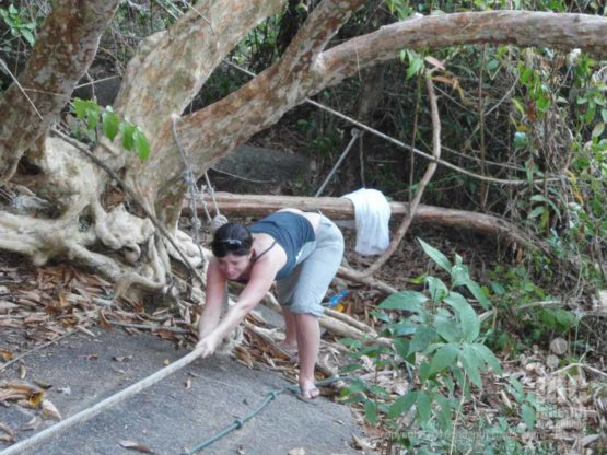 Hiking to the viewpoint at Honeymoon Bay on a Similans Liveaboard Trip