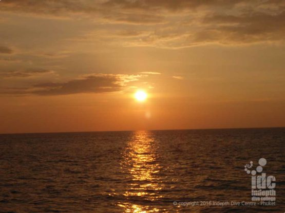 Stunning Sunset over Honeymoon Bay on a Similans Liveaboard Trip