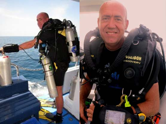 PADI Course Director Chris Owen is a Poseidon Rebreather Instructor Trainer based on Phuket Thailand