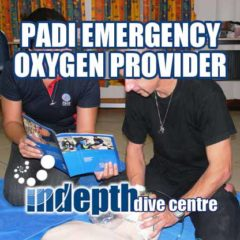 PADI Emergency Oxygen Course Students working as Rescuer, Victim and Coach