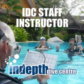 PADI IDC Staff grading IDC Candidates in Confined Water
