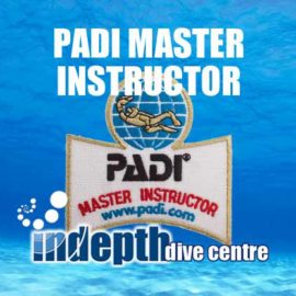 Join us at Indepth Dive Centre for help on achieving your PADI Master Instructor Rating