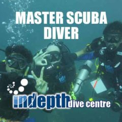 Poseidon Rebreather divers completing their PADI Master Scuba Diver on Phuket