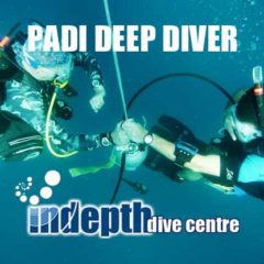 Simulated Deco Stop being performed by divers on PADI Deep Diver Course
