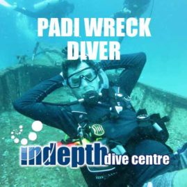 Phuket PADI Wreck Diver student on the Bay One Wreck Racha Yai