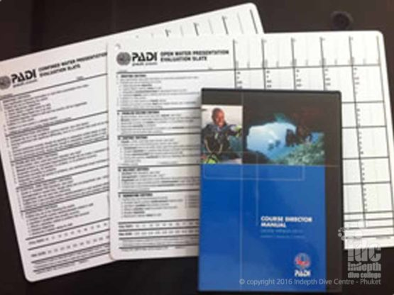 Some of the PADI IDC Staff materials that you will be needing