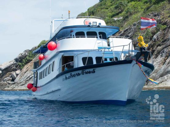Indepth Dive Centre (IDC) Phuket Dive Trip Boat 1 at Phi Phi Islands
