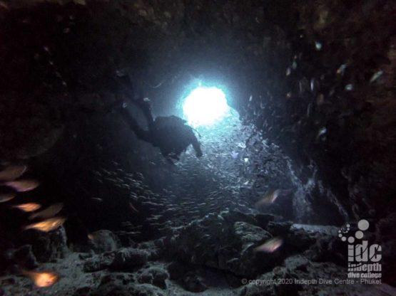 "The ""Chimney"" - Koh Haa Neua Dive Site"