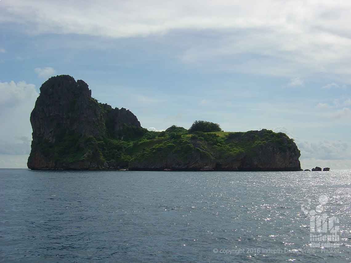 Ko Haa Neua is best dived by South Andaman Liveaboard from Phuket Thailand